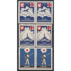PCK pair of charity label 1941 MNH**