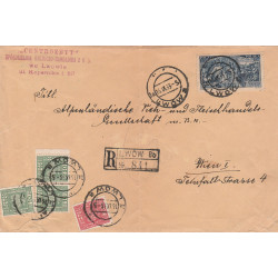 Poland - register cover from Lwow, 1933
