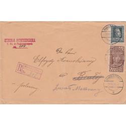 Polska - list polecony z Makoszowy, 1929