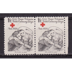 PCK charity label 1939 pair MNH**