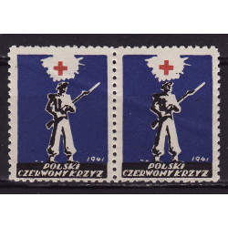 PCK charity label 1941 pair MNH**
