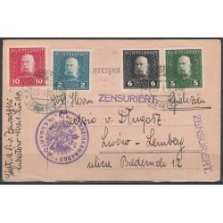 OA kartka Lubartów - Lwów 1916