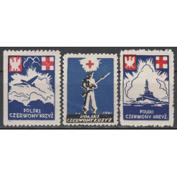 PCK charity labels 1941 MNH**