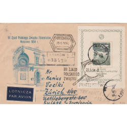 Poland - register cover - FDC fi 711, 1954